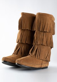 Minnetonka - 3 LAYER FRINGE - Cowboy-/Bikerlaarzen - light brown - 3