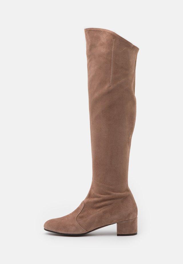 BOOT ZIP - Overknee laarzen - nude