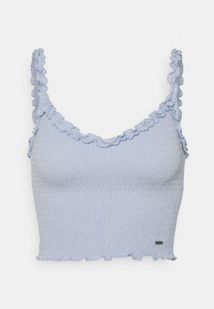 SMOCKED HALTER - Top - blue