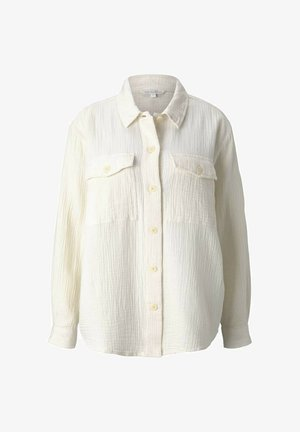 Button-down blouse - soft creme beige