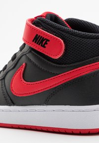 Nike Sportswear - COURT BOROUGH MID UNISEX - Sneakers alte - black/university red/white - 5