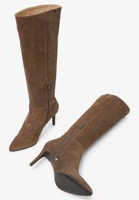 Bianco - BIADANGER LONG BOOT - High heeled boots - mediumbrown1 - 3