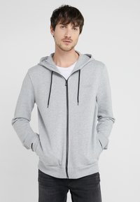 HUGO - DAPLE - veste en sweat zippée - open grey - 0