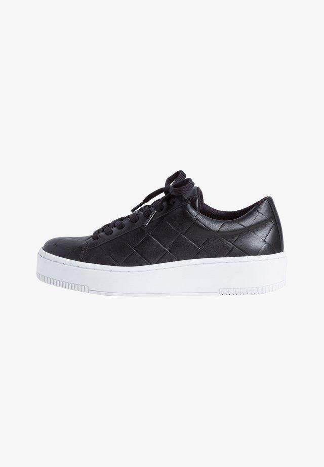 Baskets basses - black leather