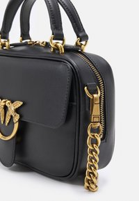 Pinko - LOVE MINI SQUARE SIMPLY ANTIQUE - Across body bag - black - 4