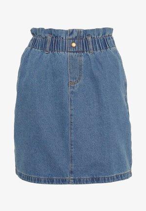 NMJUDO PAPBACK SKIRT - Denimová sukně - medium blue denim
