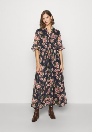 Shirt dress - navy/pink