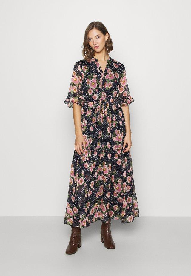 Shirt dress - navy/pink