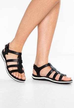 VEGA - Ankle cuff sandals - black