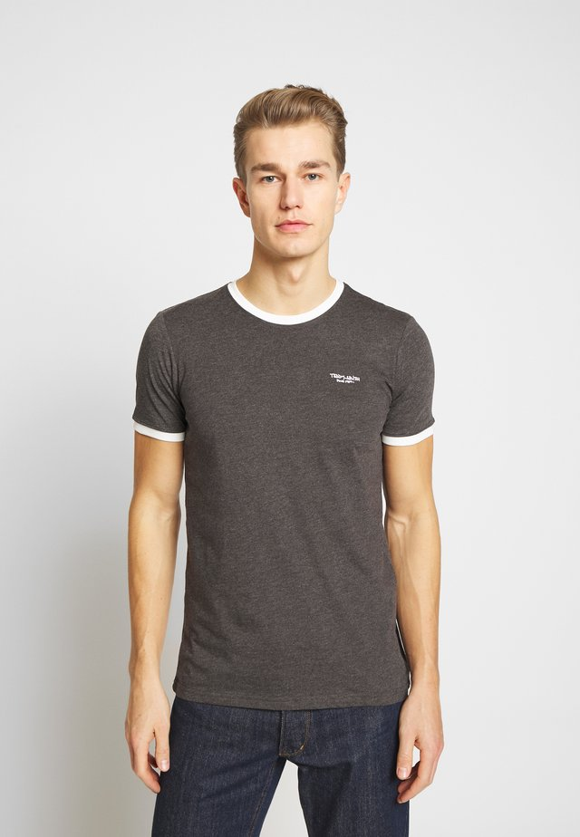 Basic T-shirt - anthracite chine