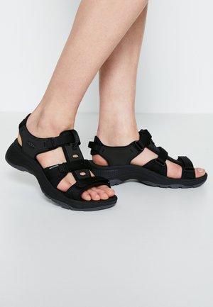ASTORIA WEST OPEN TOE - Walking sandals - black