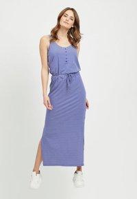 Object - OBJSTEPHANIE MAXI DRESS  - Maxi dress - clematis blue - 0