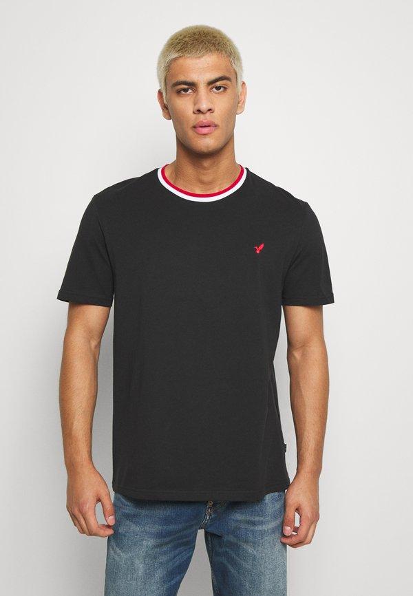 Pier One T-shirt basic - black/czarny Odzież Męska GDAB