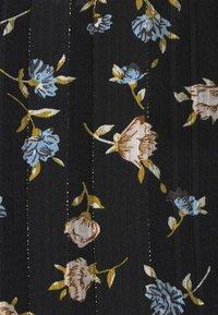 Missguided Petite - FLORAL SHIRRED WAIST MINI DRESS - Day dress - black - 5
