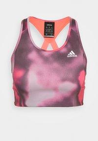 adidas Performance - AEROREADY WORKOUT BRA LIGHT SUPPORT - Sujetador deportivo - signal pink/white - 4