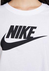 Nike Sportswear - TEE - Triko spotiskem - white/black - 5