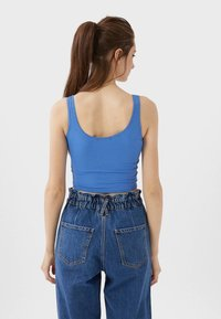 Stradivarius - CROPPED - Top - blue - 2