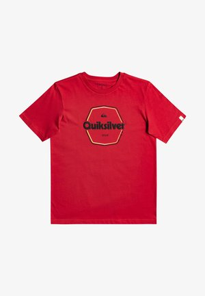 HARD WIRED  - T-shirt imprimé - american red