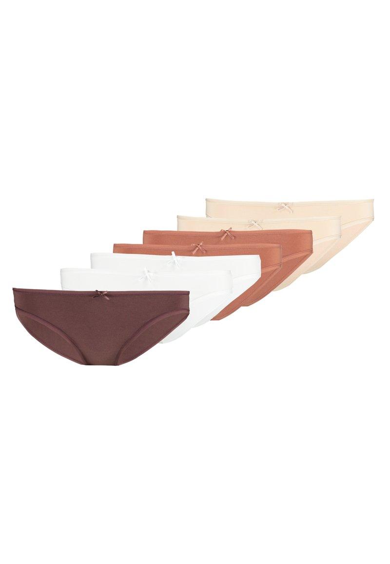 Anna Field - 7 PACK - Slip - brown/nude/white