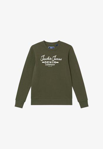 JJHERO CREW - Sweater - dusty olive