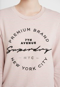 Superdry - DUNNE STRIPE GRAPHIC - Long sleeved top - pink - 4
