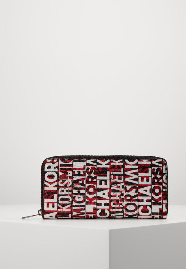 GREYSON TECH ZIP AROUND - Peněženka - black/red