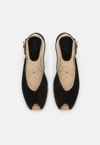 JUTELAUNE - Platform sandals - black - 3