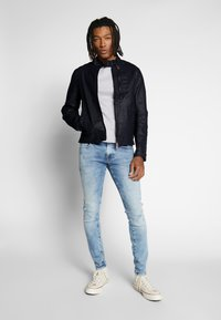 G-Star - BIKER DENIM  - Veste en jean - pintt mazarine superstretch - 1