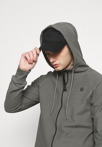 G-Star - TONAL JIRGI HOOD  - Zip-up hoodie - honeycomb jersey io - gs grey - 3