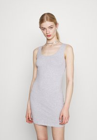 Even&Odd - 2 PACK - Vestido de tubo - black /  mottled light grey