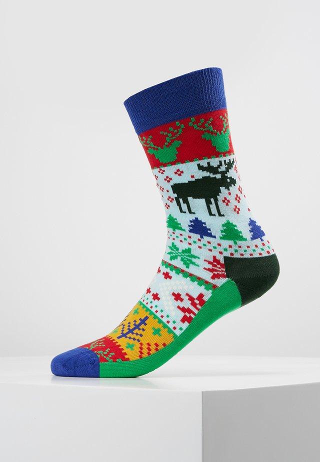FAIR ISLE - Socks - khaki