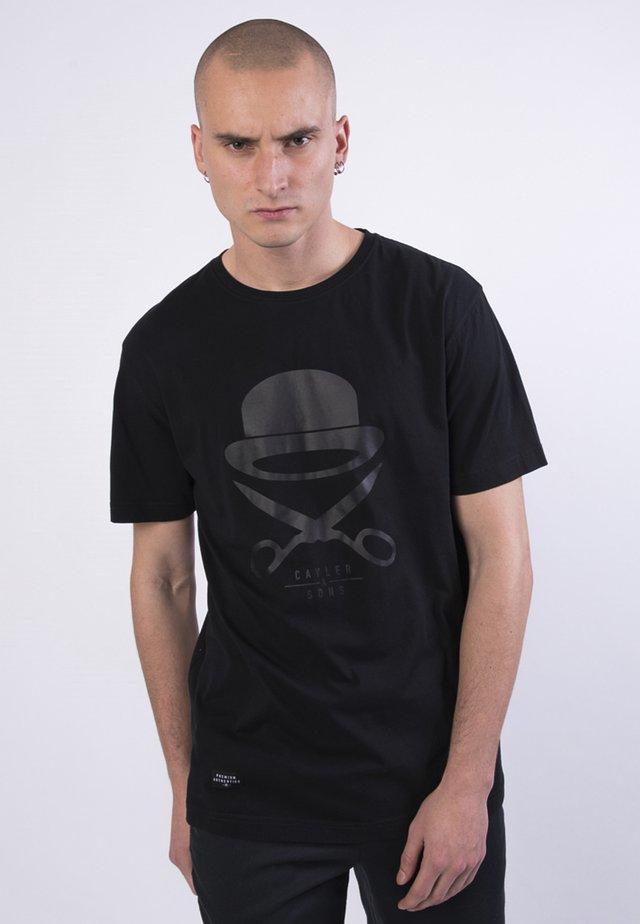 ICON - Print T-shirt - blk blk