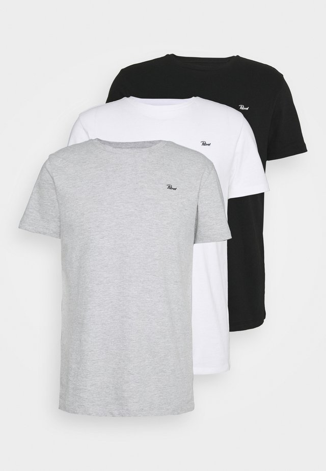 SPECIAL 3 PACK - T-shirt basic - schwarz