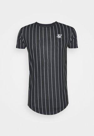 PINSTRIPE TEE - Print T-shirt - black