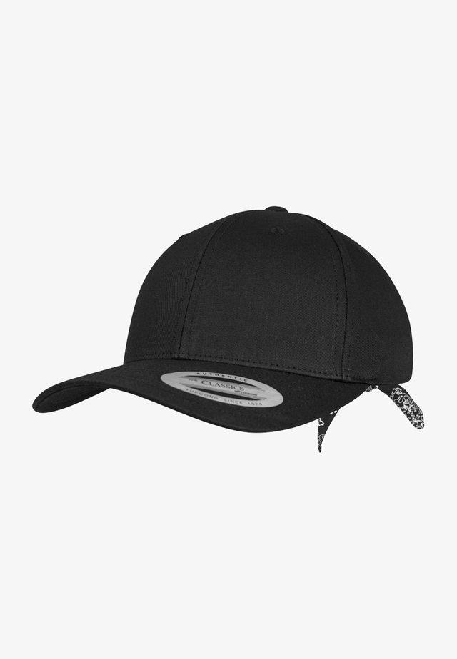 CURVED BANDANA TIE SNAPBACK - Caps - black