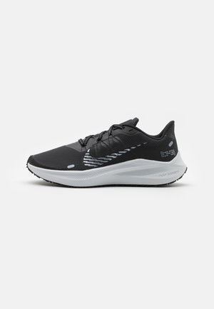 WINFLO 7 SHIELD - Zapatillas de running neutras - black/metallic cool grey/dark smoke grey/pure platinum/anthracite