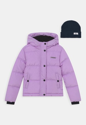 TRIJNY SET - Winter jacket - fresh lilac/dark blue