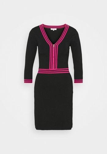 Shift dress - noir/bonbon