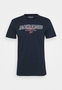 Jack & Jones - JORBOOSTER TEE  - Print T-shirt - navy blazer - 0