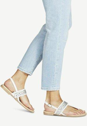 T-bar sandals - white/silver