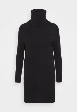 VIFLINKA COWLNECK DRESS - Strikket kjole - black