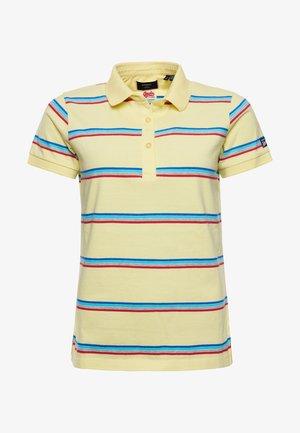 Polo shirt - varsity faded yellow stripe