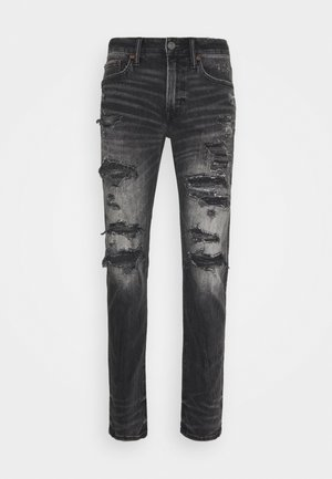MENDED  - Slim fit jeans - destroyed black