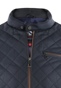 Giorgio Di Mare - Leather jacket - navy tafta - 2