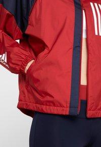 adidas Performance - Sportovní bunda - maroon/legend ink/white - 5