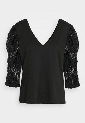 VITINNY SLEEVE CAMP - Long sleeved top - black