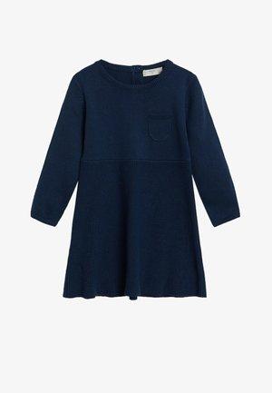 MALENA - Pletené šaty - bleu