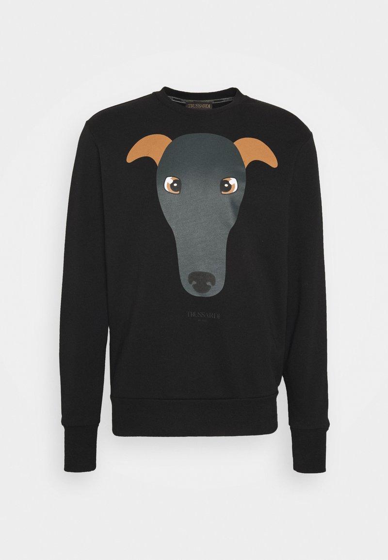Trussardi - BRUSHED FLEECE REGU - Sweatshirt - black