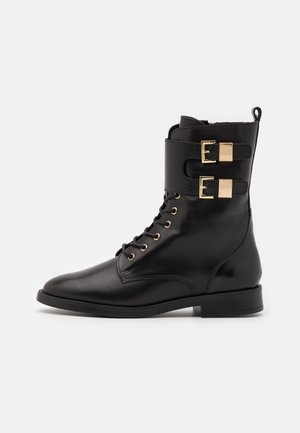 PICTOR - Lace-up ankle boots - black