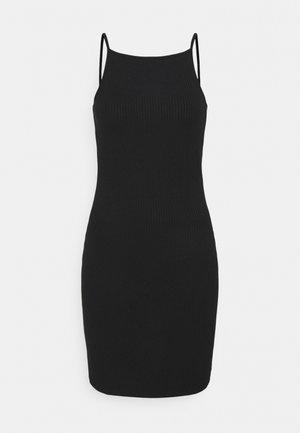 NMEDDA SHORT DRESS PETITE - Žerzejové šaty - black